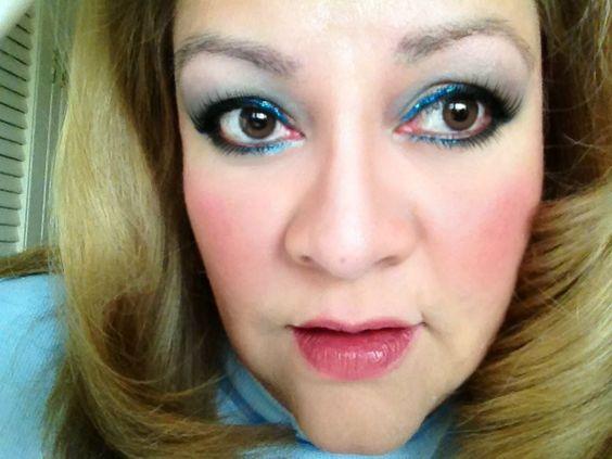 Blue and aqua eyes