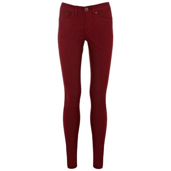 Dark Red Cherry Coloured Jeans ($52) ❤ liked on Polyvore featuring jeans,  women's trousers, women+jeans, dark red jeans, straight-leg jeans, super … - Dark Red Cherry Coloured Jeans ($52) ❤ Liked On Polyvore