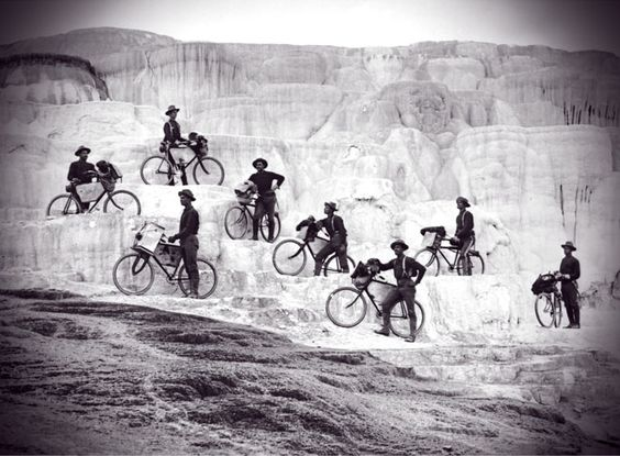 This Memorial day, as we remember all who sacrificed for us, let us cyclists also remember the 25th Infantry Bicycle Corps at Fort Missoula, Montana, back in 1896. Those are the Buffalo Soldiers you see up there, at Yellowstone. This infantry was established to see if bikes could work for military purposes in mountainous terrain.