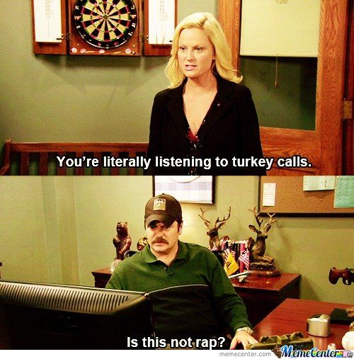 Parks and Rec! One of my favorite quotes from this: