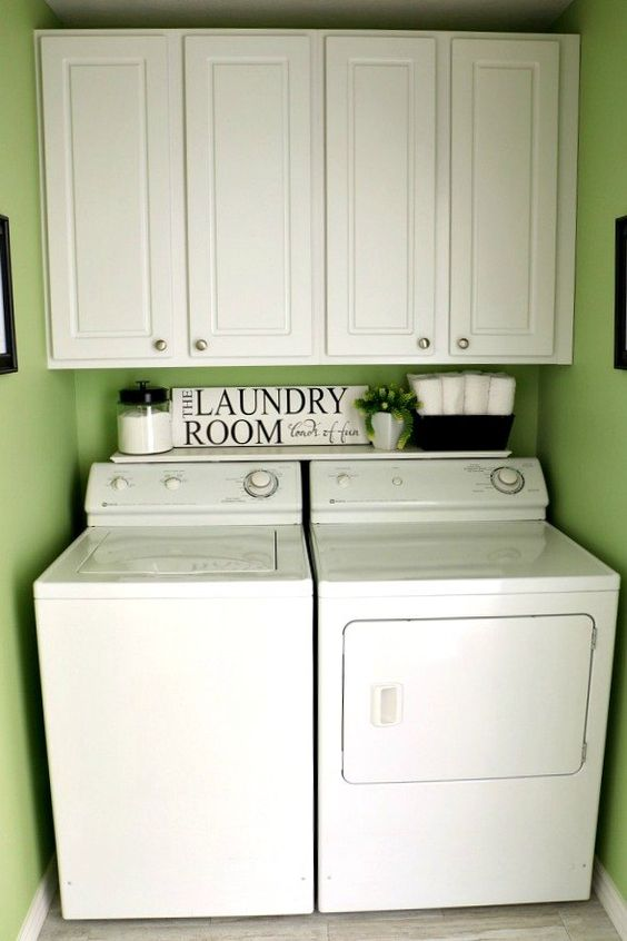 Laundry room renovation a well shelf ideas and washers for Laundry room renovation