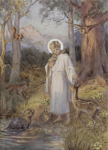 "Margaret W. Tarrant, ""Jesus and the animals"" 