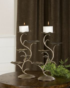 Accessories/View All Lotus, Candleholder, S/2