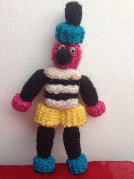 Bertie Bassett Toy Knitting Pattern Liquorice Allsorts Easter Birthday Presen...