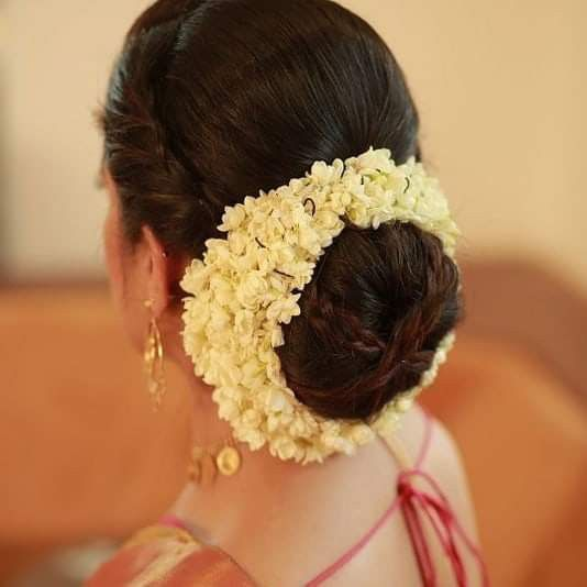 Pin By Haritha Akhi On Bridal Beauty Bridal Hair Buns Engagement Hairstyles Indian Bun Hairstyles