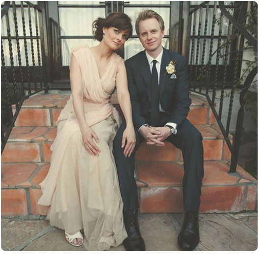 Emily Deschanel with her husband David Hornsby