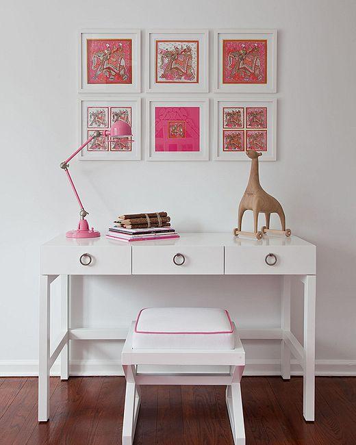 Quadros: Desk Area, Girl Room, Vintage Scarf, Kids Room, Kidsroom, Girls Room