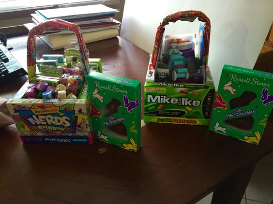 Easter baskets without wasting money on a basket that's just going to go in the trash!