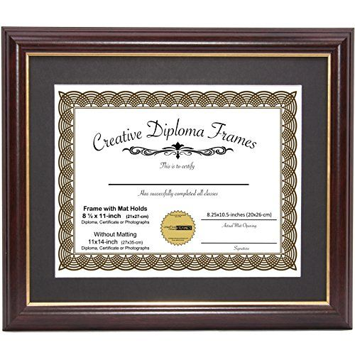 Creativepf 11x14mh Gd Mahogany Frame With Gold Rim Bla Https Www Amazon Com Dp B07b4779j7 Ref Cm Sw R Pi Dp U X Zqiwb Document Frame Frame Father Frame