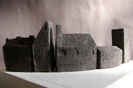 'Silver Royd Mill' black clay  By Frances Ann Norton, seen at, www.littlemoorpottery.com; or, frances-ann.blogspot.com: