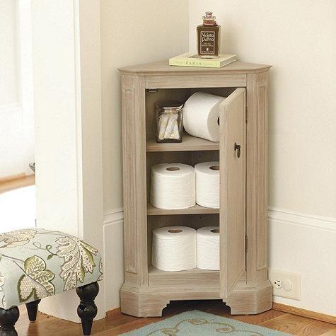 this petite cabinet tucks into those unused corners for
