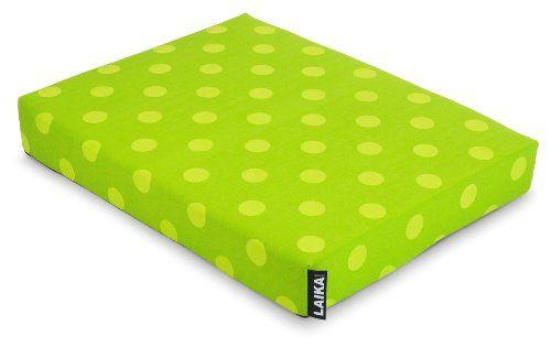 Laika Design Orthopedic Dog Bed, Lime Green Polka Dots, X-Large