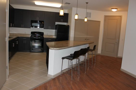 D3 unit at the University House Central Florida     #kitchen #UCF #apartment #college #living