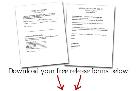 Free Photography Release and Model Release Download - Photographer - generic release form