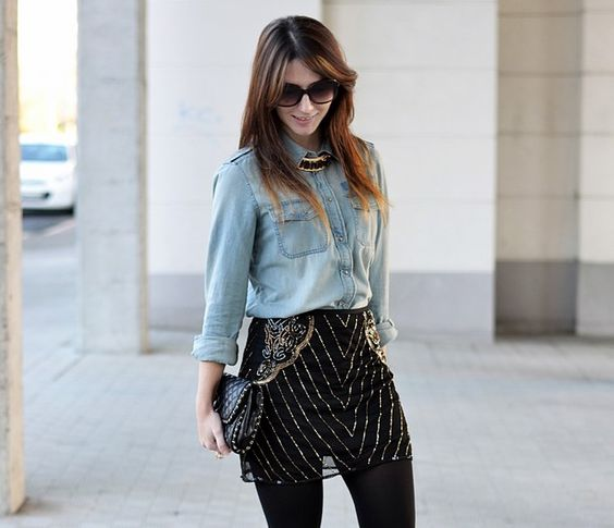 Look: Pailletes Skirt - Ma Petite by Ana - Trendtation