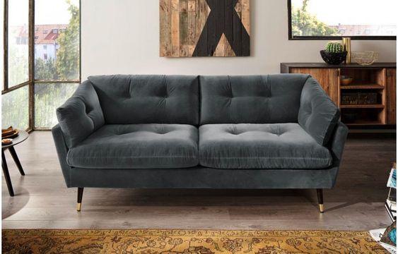 Sofa Japan 2 5 Sitzer Dunkelgrau Online Bei Poco Kaufen Couch Gunstige Sofas Sofa