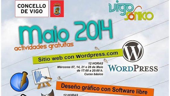 Cursos gratuitos de son e deseño no mes de maio en Vigosónico | Vigo Low Cost