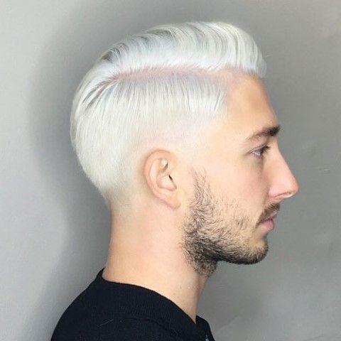 Mann haare blond gefärbt