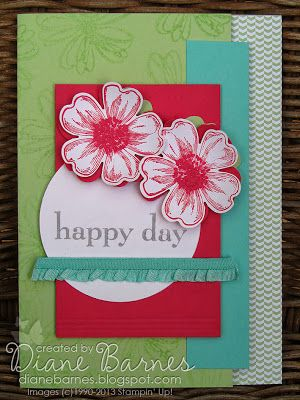 Stampin Up Flower Shop card by colour me happy - Di Barnes #stampinup, #flowershop