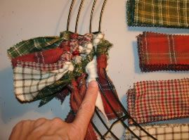 Any-Season-Indoor Wreath -- great stash buster for people that sew and always have scraps. NO SEW. Think holidays, school colors, sports parties, little girls room, on and on.