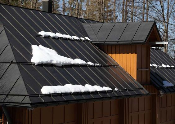 Metal Roofing Is Great In Snow Country Because It Is Fire