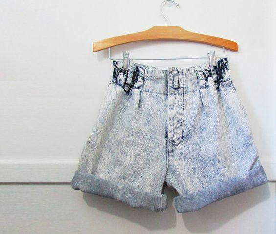 Denim Jean Shorts Vintage 80's Acid Washed  by GoodNPlentyVinty, $24.99 #highwaistedshorts #80s #acidwashed