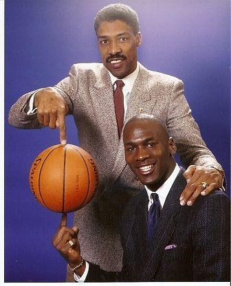 Dr J and Michael Jordan