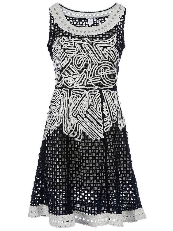OSCAR DE LA RENTA Embroidered dress    $2,289.94