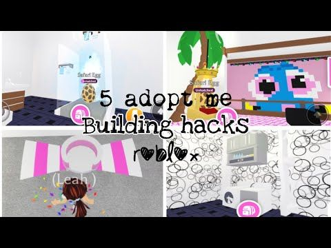 5 Adopt Me Building Hacks Roblox Youtube Cute Room Ideas Adoption Animal Room