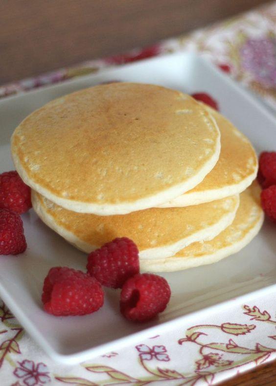 Light and Fluffy Gluten Free Pancakes - recipe by barefeetinthekitchen.com #maryslocalmarket