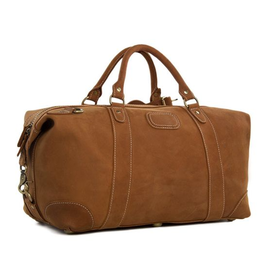 Genuine Leather Travel Bag Weekender Leather Duffle Bag Overnight ...