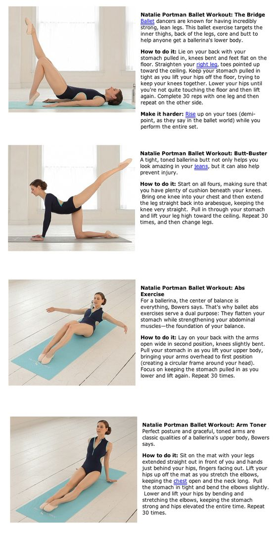 Natalie Portman's Black Swan Ballet Workout
