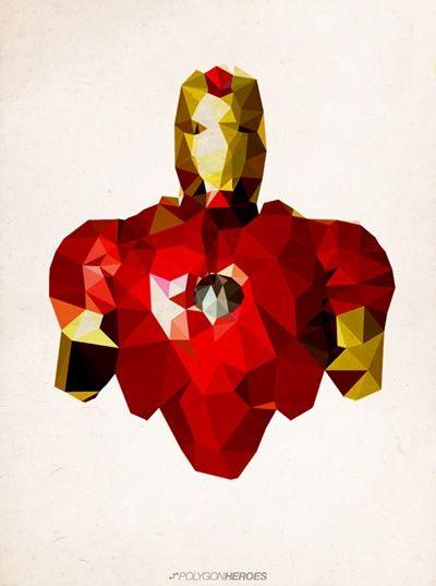05-10 posters de superhéroes en polígonos