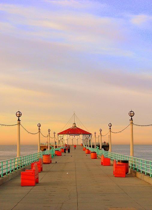 Manhattan Beach Pier Photograph by Jeff Lowe - Manhattan Beach Pier Fine Art Prints and Posters for Sale
