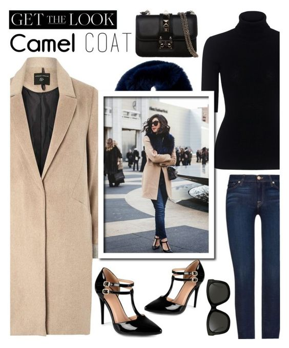 """""""Wear A Camel Coat..."""" by glamorous09 ❤ liked on Polyvore featuring Marissa Webb, 7 For All Mankind, mel, Oscar de la Renta, Journee Collection, Linda Farrow, Valentino, fallstyle and camelcoat"""
