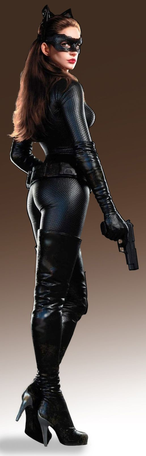 Anne Hathaway Catwoman Suit