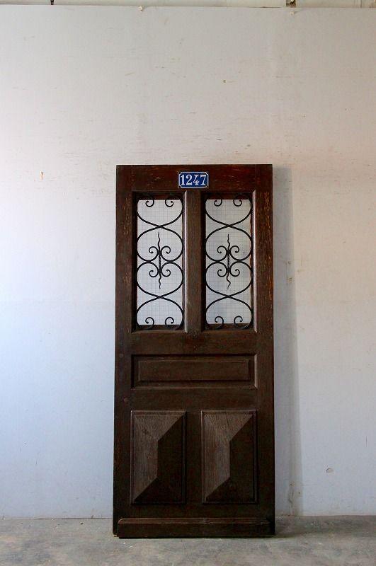 No 1247 アイアン飾り 玄関ドア フランス アンティークドア 直輸入販売 Boncote 画像あり アンティーク ドア フランスアンティーク アンティーク