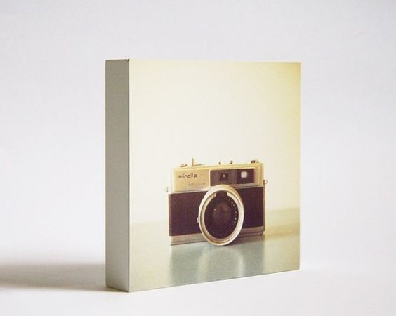 Minolta photo block wall hanging, by Susannah Tucker on Etsy, $18.00. Gorgeous!
