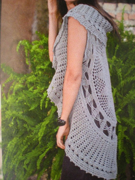 Free Crochet Patterns For Circular Vest : EmmHouse: Circular vest - free crochet pattern (diagram ...