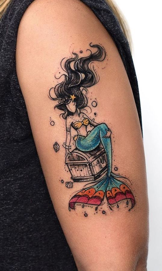 40 Best Tattoos From Awesome Tattoo Artist Robson Carvalho Doozy List Mermaid Tattoos Beautiful Tattoos Cool Tattoos