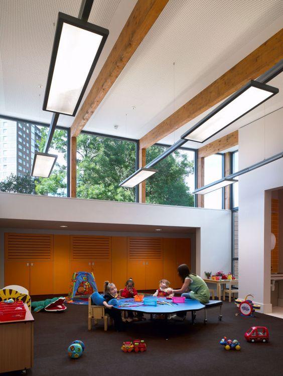 Clear Story Windows - School Interior Design