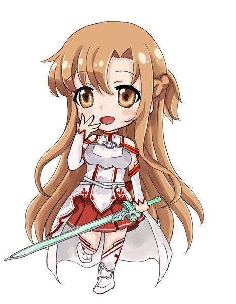 Sword Art Online, Asuna (chibi), by d-tomoyo:
