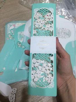 Tienda Online Invitando mariposa tarjeta fuentes del acontecimiento del partido elegante papel cortado con láser amante de la decoración romántica de la boda para huéspedes | Aliexpress móvil