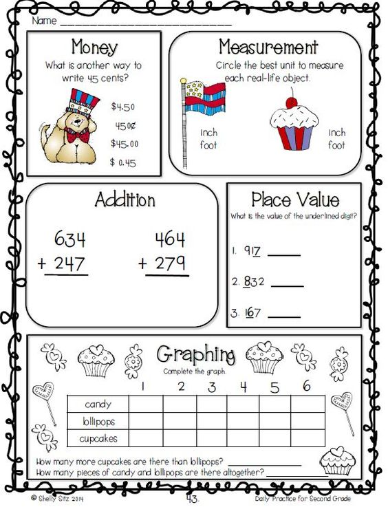 Second Grade Morning Worksheets : Free second grade math review worksheet images
