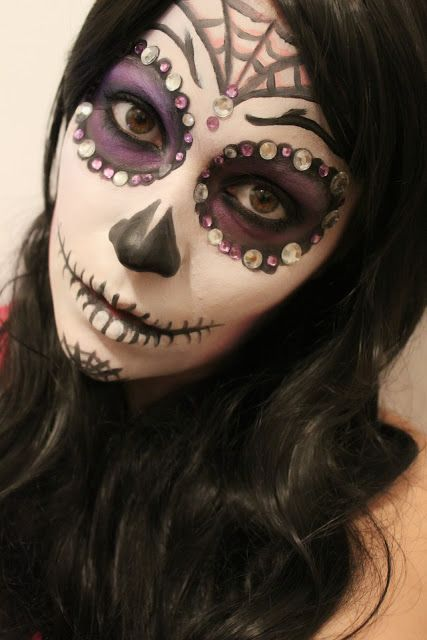 Marianne G.: Sugar skull makeup for halloween