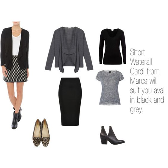 Waterfall Cardi by styleright on Polyvore featuring Jo Mercer