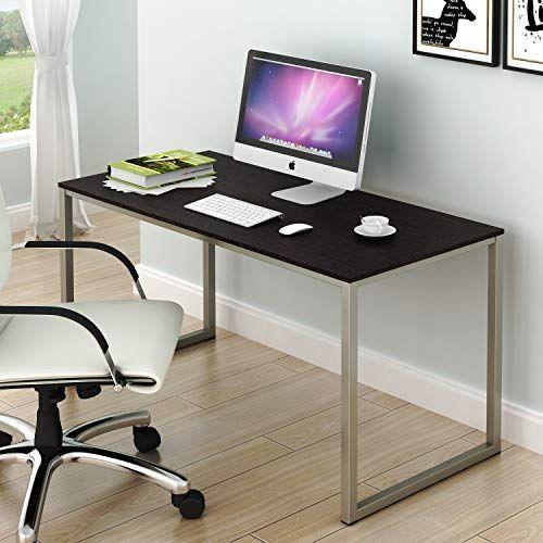 Shw Home Office 48 Inch Computer Desk Silver Espresso Shw Https Www Amazon Com Dp B07q3yr6gv Ref In 2020 Large Computer Desk Computer Desk Desk Organization Office
