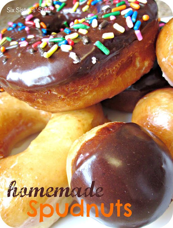 Homemade Spudnuts.  So good they will melt in your mouth! #recipes #breakfast #pastries