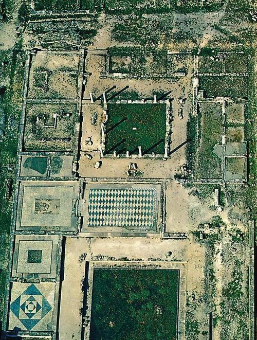 The Ancient Greek Kingdom - Aerial view of Pella, Macedonia - Greece .