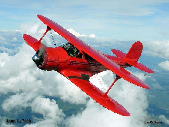No avião antigo